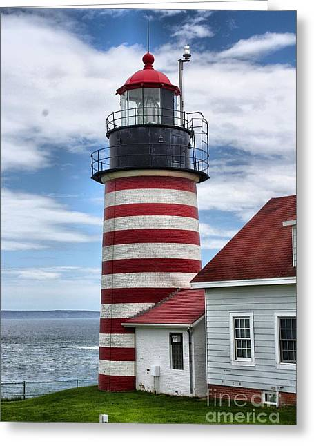 Cape Neddick Greeting Cards - West Quoddy Lighthouse_4226 Greeting Card by Joseph Marquis