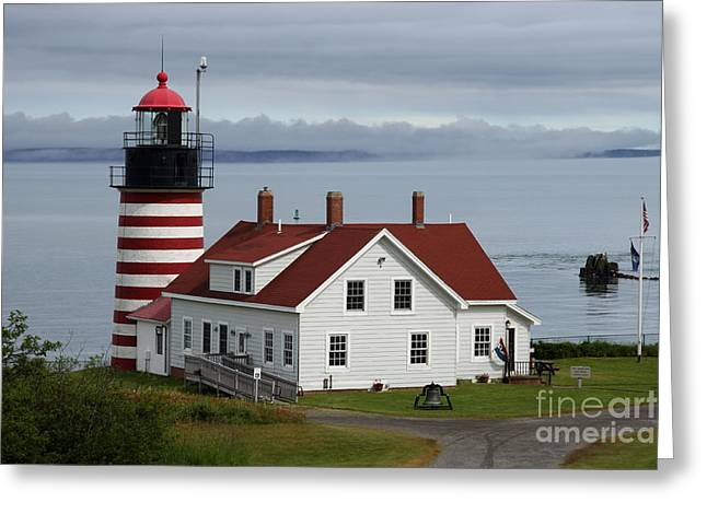 Maine Landscape Greeting Cards - West Quody Head Light  Greeting Card by Christiane Schulze Art And Photography