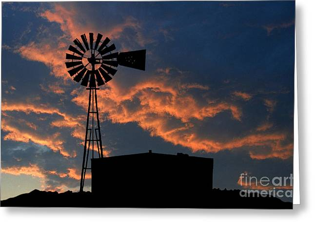 Jerry West Greeting Cards - West Texas Cattle Tank Greeting Card by Jerry McElroy