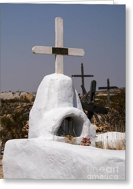 Terlingua Texas Greeting Cards - West Texas Gravesite Greeting Card by Bob Phillips