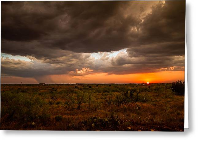 Recently Sold -  - City Art Greeting Cards - West Texas Greeting Card by Sean Ramsey
