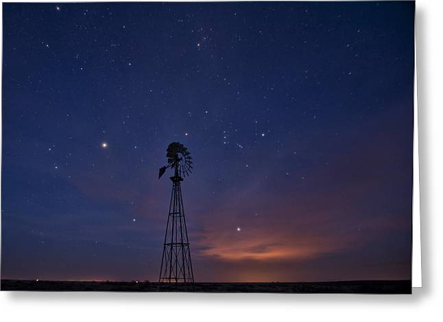 Rural Digital Art Greeting Cards - West Texas Sky Greeting Card by Melany Sarafis