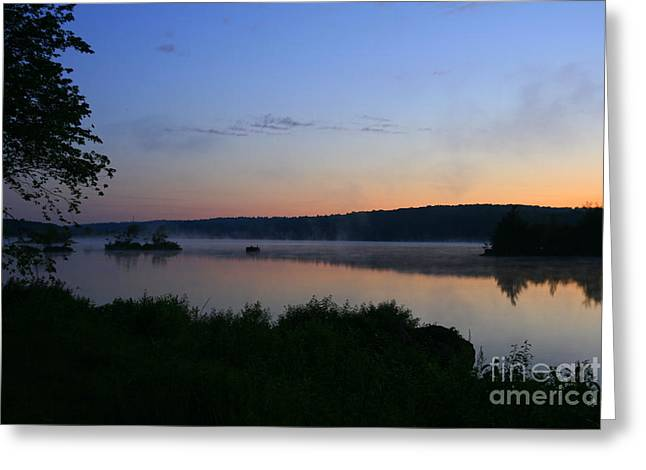 Landscape Photograph Greeting Cards - West Thompson Lake Sunrise Greeting Card by Neal  Eslinger