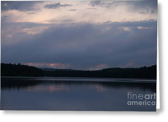 Landscape Photograph Greeting Cards - West Thompson Lake Sunset  Greeting Card by Neal  Eslinger