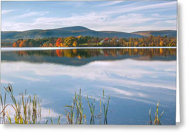 The Berkshires Greeting Cards - West Twin Lake Square Greeting Card by Bill  Wakeley