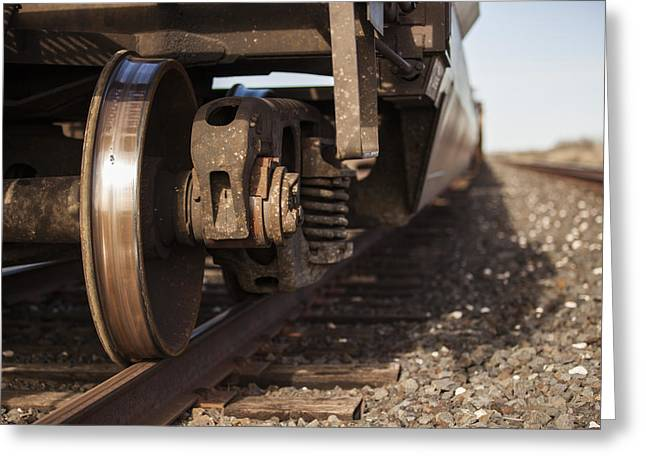 West Tx Railroad Greeting Card by Amber Kresge