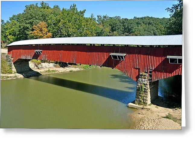 West Union Covered Bridge 2 Greeting Card by Marty Koch