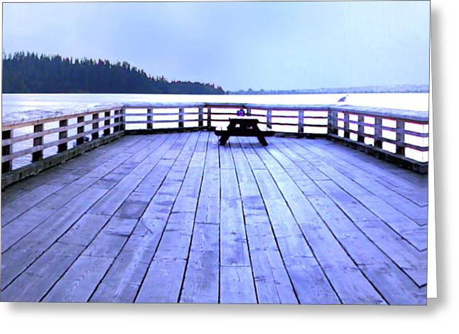 North Vancouver Digital Greeting Cards - West Vancouver Dundarave Pier Centre Greeting Card by Patricia Keith