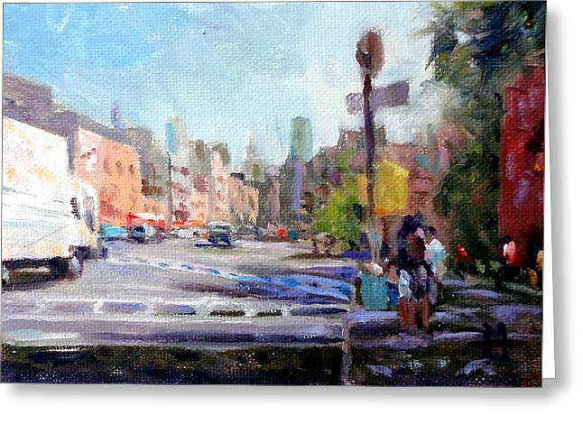 Mountain Climbing Print Paintings Greeting Cards - West Village Greeting Card by Mark Hartung