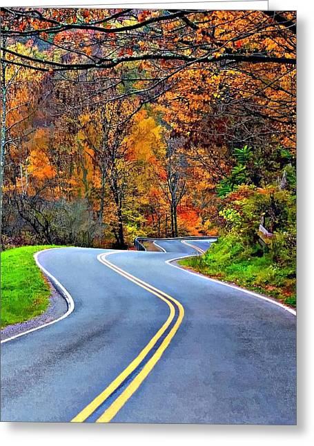Wv Greeting Cards - West Virginia Curves 2 Greeting Card by Steve Harrington