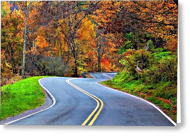 West Virginia Curves 2 Greeting Card by Steve Harrington