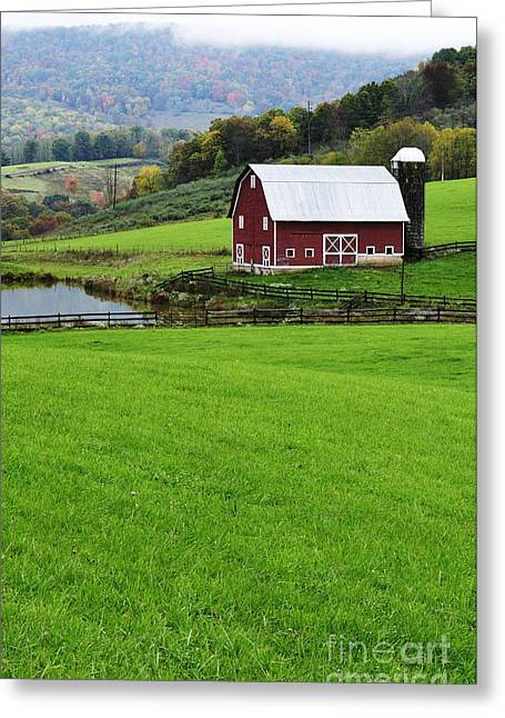Board Fence Greeting Cards - West Virginia Farm in Fall Greeting Card by Thomas R Fletcher
