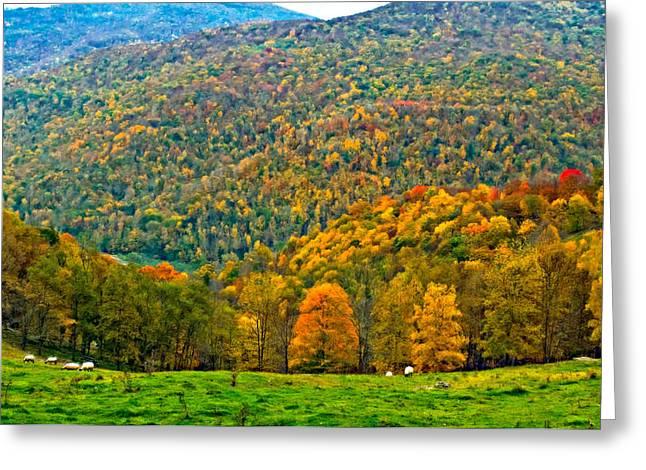 Oil Paint Digital Art Greeting Cards - West Virginia High oil Greeting Card by Steve Harrington