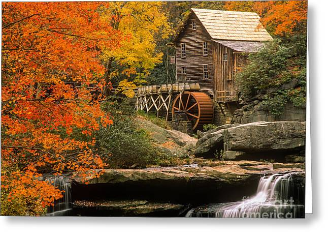 Grist Mill Greeting Cards - West Virginia Landmark Greeting Card by Larry Knupp