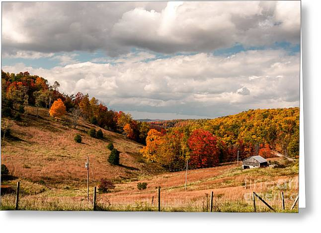 Kathleen Hill Greeting Cards - West Virginia Rural Landscape Fall Greeting Card by Kathleen K Parker