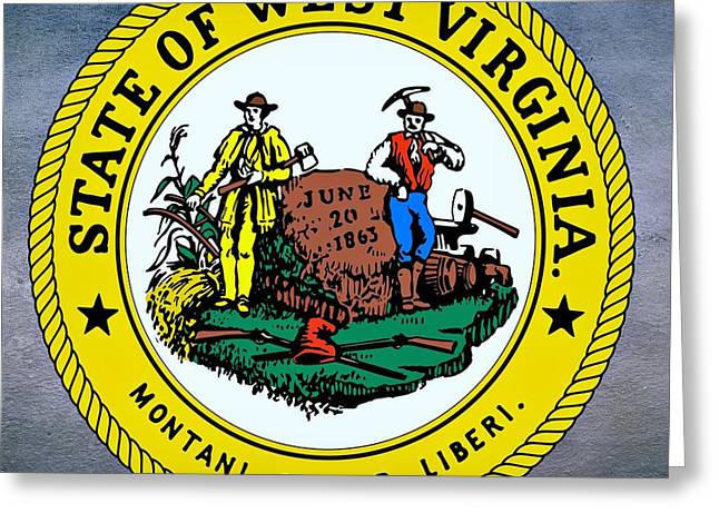 Cornstalks Greeting Cards - West Virginia State Seal Greeting Card by Movie Poster Prints