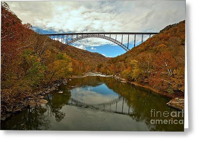 Famous Bridge Greeting Cards - West Virginia Steel Arch Bridge Greeting Card by Adam Jewell