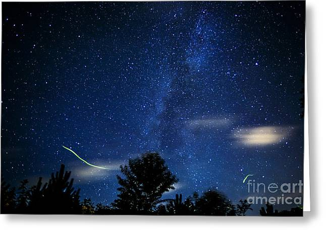 Lightning Bug Greeting Cards - West Virginia Summer Sky Greeting Card by Thomas R Fletcher