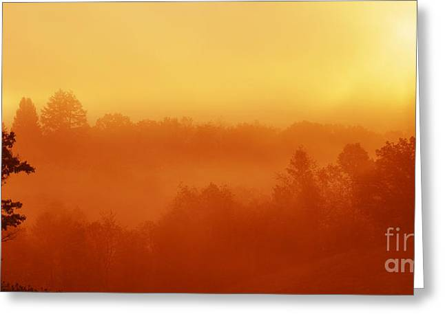 Allegheny Greeting Cards - West Virginia Sunrise Panoramic Greeting Card by Thomas R Fletcher