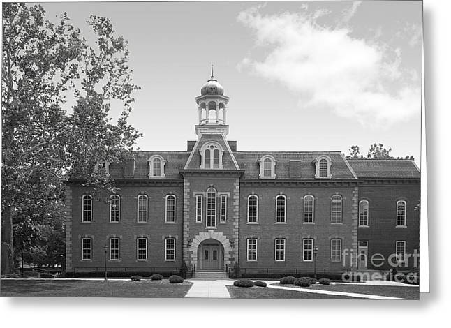 Woodburn Greeting Cards - West Viriginia University Martin Hall Greeting Card by University Icons