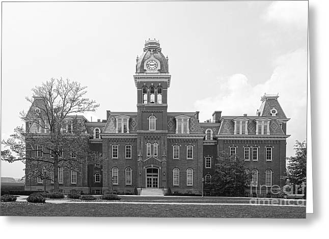 Historic Places Greeting Cards - West Viriginia University Woodburn Hall Greeting Card by University Icons