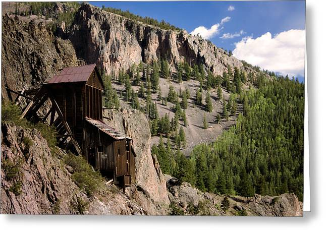 Old Mine Greeting Cards - West Willow Creek Mine Greeting Card by Lana Trussell