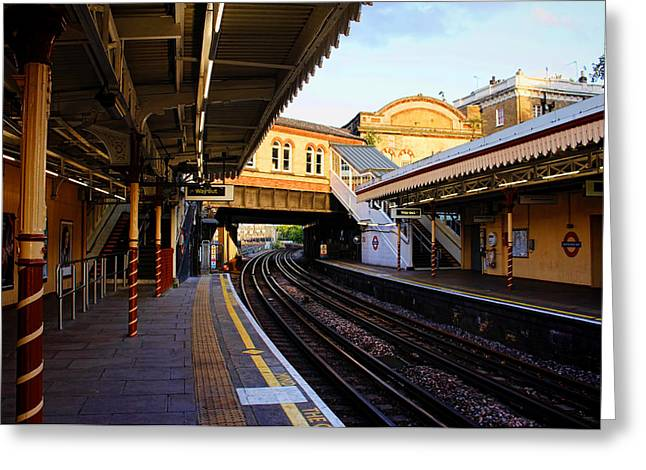 Photogrpah Greeting Cards - Westbourne Park Tube Station London Greeting Card by Nicky Jameson