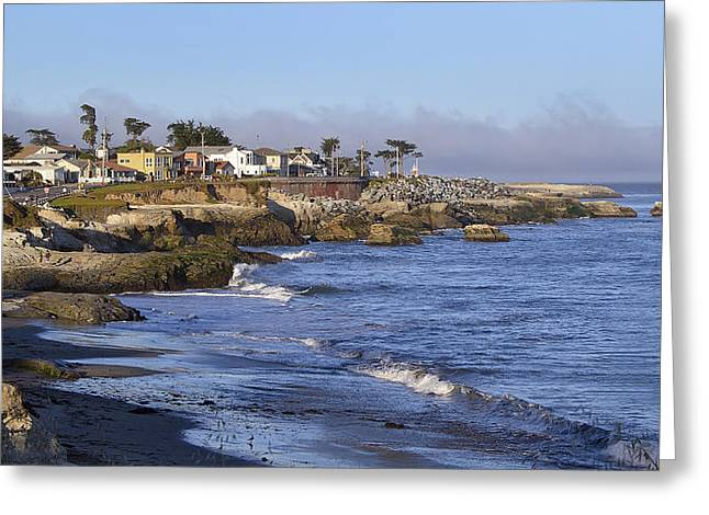 Scenic Drive Greeting Cards - Westcliff Drive - Santa Cruz - California Greeting Card by Brendan Reals