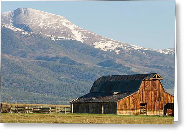 Sangre De Cristo Mountains Greeting Cards - Westcliffe Colorado - Old Barn Greeting Card by Aaron Spong