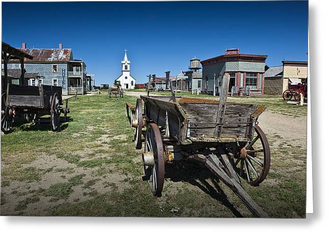 Randy Greeting Cards - Western 1880 Town in South Dakota Greeting Card by Randall Nyhof
