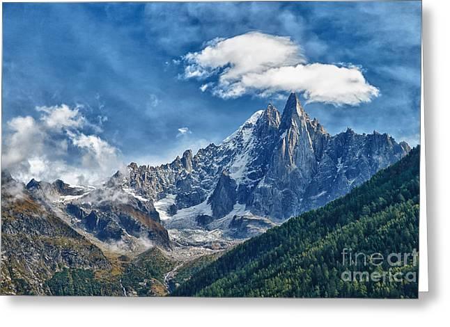 Western Alps In Chamonix Greeting Card by Juergen Klust