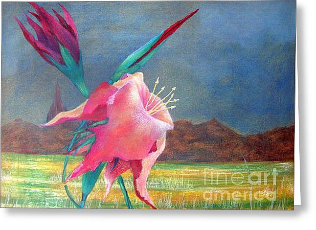 Nature Center Pastels Greeting Cards - Western Art Dallas Texas Greeting Card by Alberto Thirion