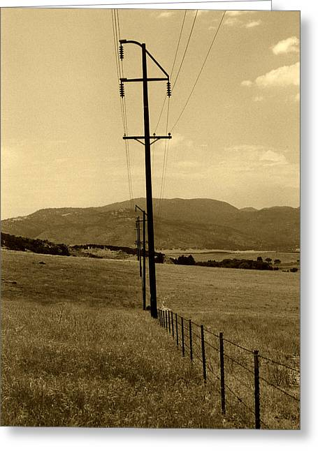 Barbed Wire Fences Mixed Media Greeting Cards - Western Bell Greeting Card by Amanda Smith