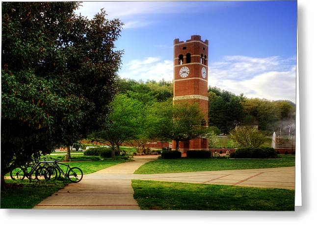 Wcu Greeting Cards - Western Carolina University Alumni Tower Greeting Card by Greg and Chrystal Mimbs