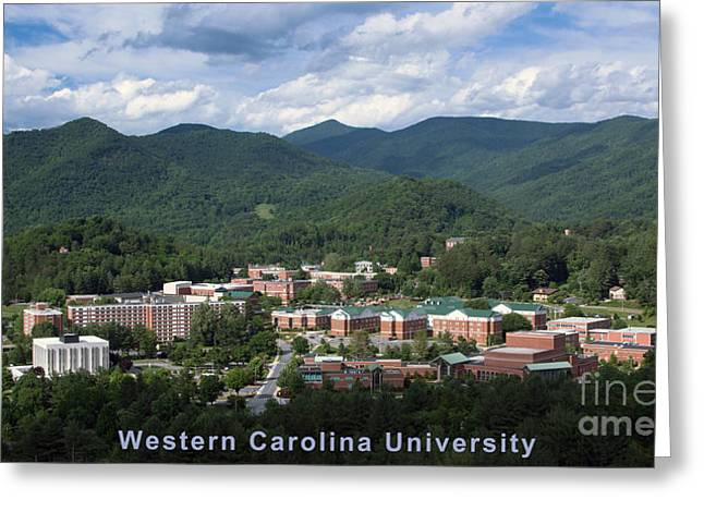 Wcu Greeting Cards - Western Carolina University Summer Greeting Card by Matthew Turlington