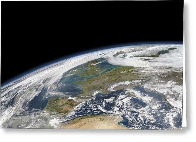 Western Europe, Satellite Image Greeting Card by Science Photo Library