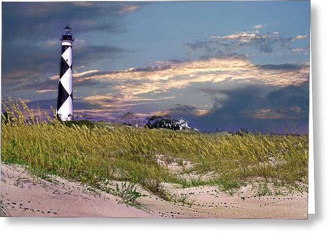 Nc Photos Greeting Cards - Western Front Cape Lookout Greeting Card by Skip Willits