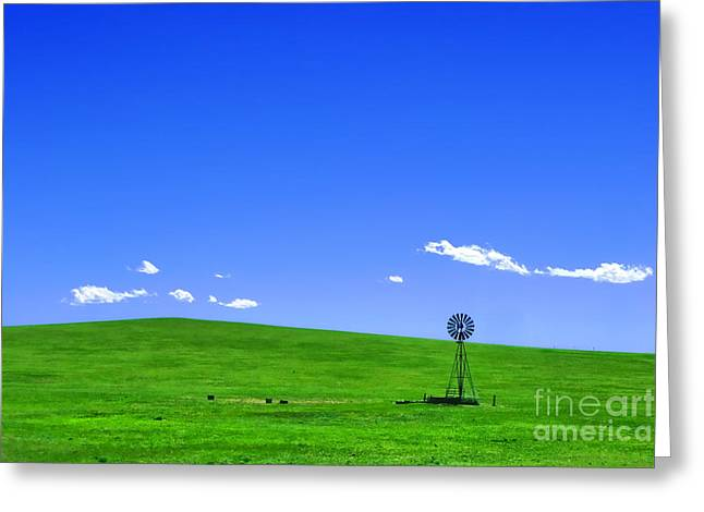 Prairies Photographs Greeting Cards - Western Hill  Greeting Card by Olivier Le Queinec