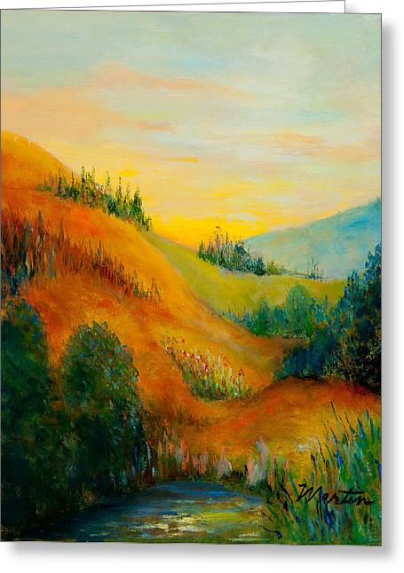 Western Hills Greeting Card by Larry Martin