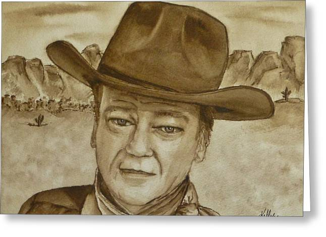 Cowboy Hat Greeting Cards - The Duke Greeting Card by Kelly Mills