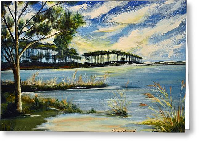 Florida Panhandle Paintings Greeting Cards - Western Lake 30A Greeting Card by Stephen Broussard