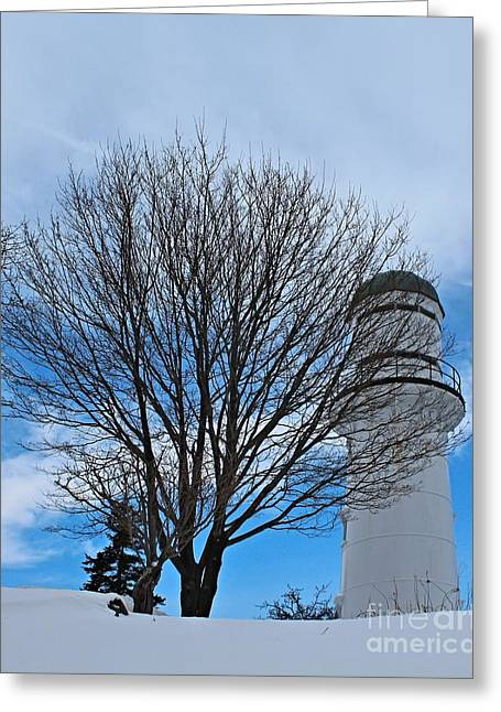 Winter In Maine Greeting Cards - Western Light_9821 Greeting Card by Joseph Marquis