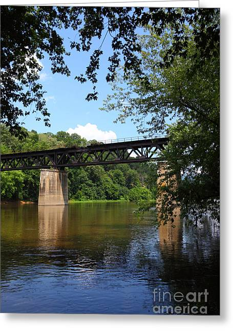 Potomac Greeting Cards - Western Maryland Railroad Crossing the Potomac River Greeting Card by James Brunker