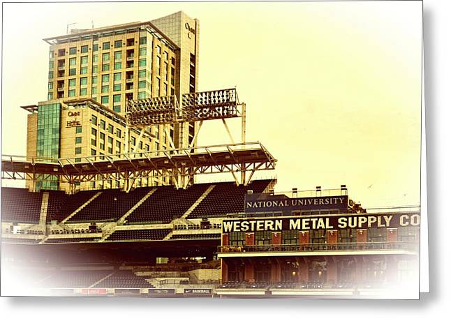 Pastimes Greeting Cards - Western Metal-Petco Park Greeting Card by See My  Photos