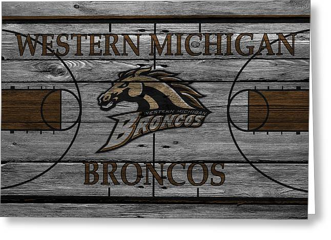 Team Greeting Cards - Western Michigan Broncos Greeting Card by Joe Hamilton