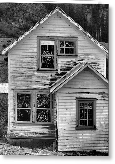 Historic Home Greeting Cards - Western Mining Home Greeting Card by Dan Sproul