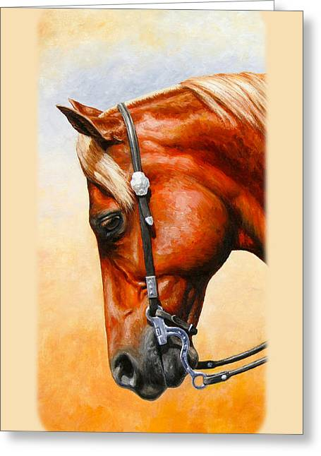 Quarter Horses Greeting Cards - Western Pleasure Horse Phone Case Greeting Card by Crista Forest