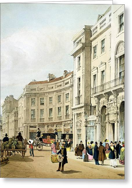 West End Greeting Cards - Western Side Of John Nashs Extended Greeting Card by Thomas Shotter Boys
