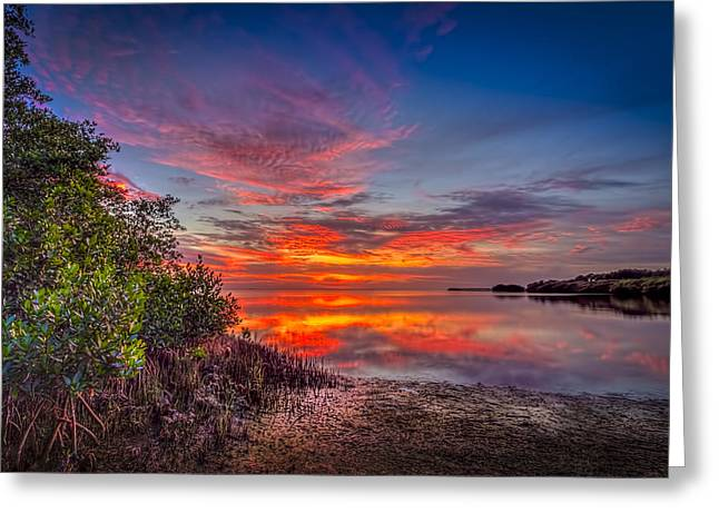 Gulf Of Mexico Scenes Greeting Cards - Western Sky Greeting Card by Marvin Spates