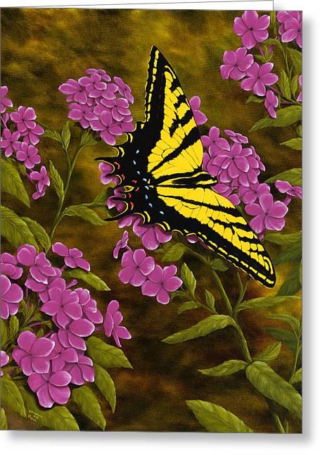 Western Tiger Swallowtail And Evening Phlox Greeting Card by Rick Bainbridge